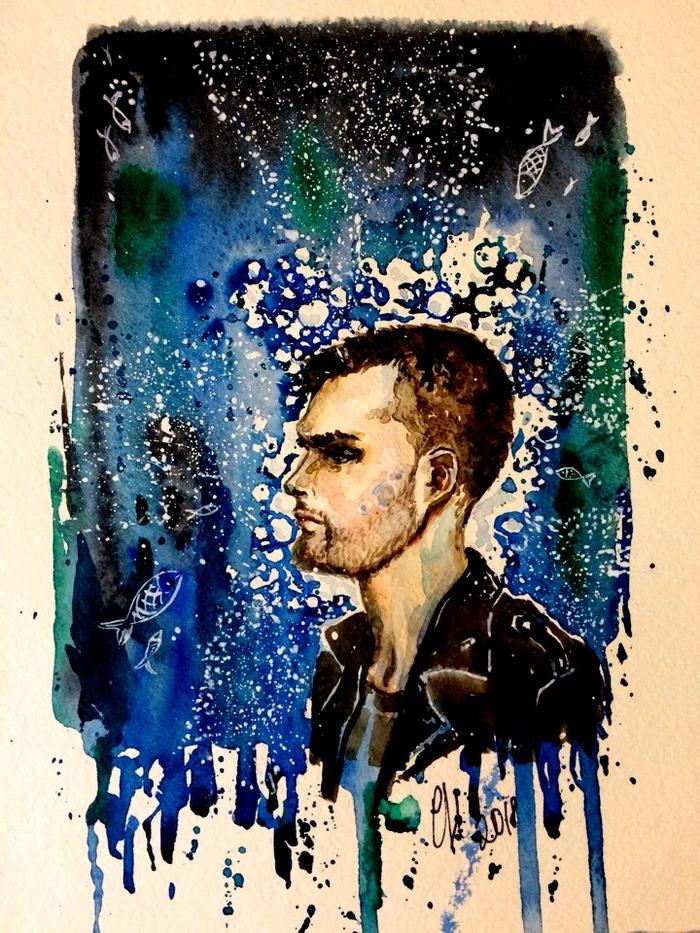 Моё море Творчество, Акварель, Арт, Рисунок, Noize mc, Иллюстрации, Песня, Музыка