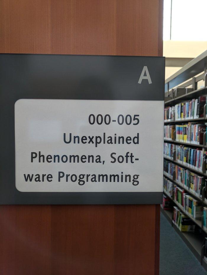 В библиотеке Библиотека, Каталог, Программирование, Программное обеспечение, Необъяснимое, Феномен