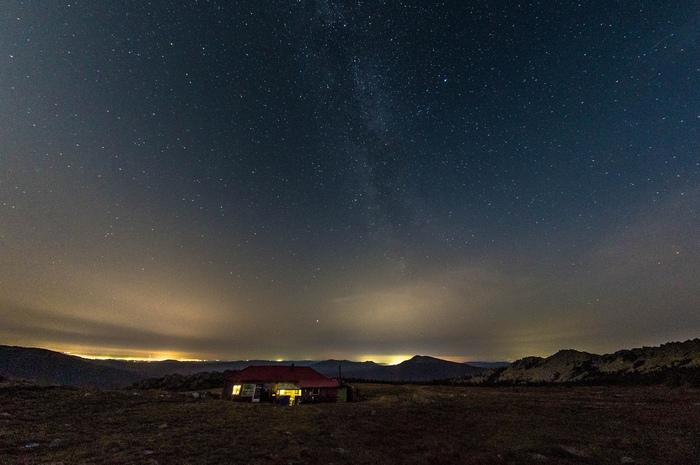 Звездное небо над Метеостанцией. Таганай