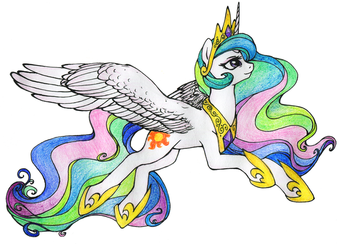 Celestia My little pony, Princess Celestia, Ponyart