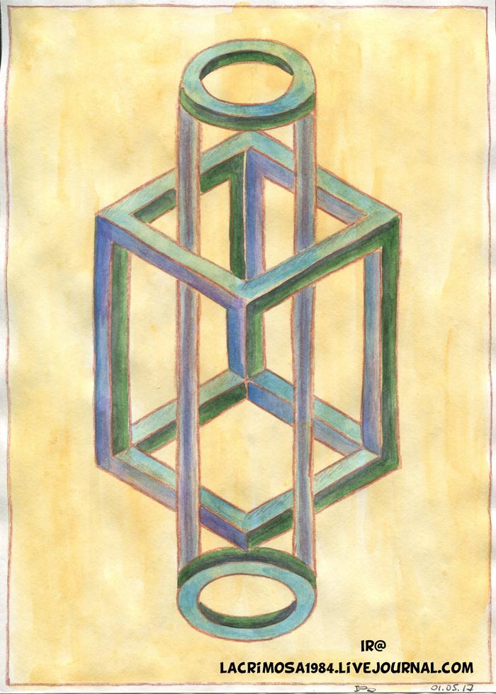Невозможные фигуры Рисунок, Длиннопост, Фигура, Геометрия