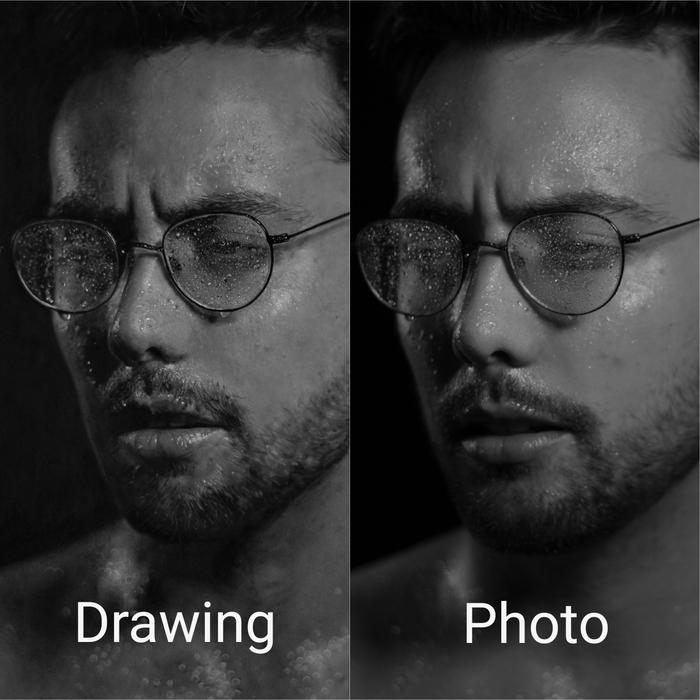 Сравнение рисунка и оригинальной фотографии Фотография, Картина, Гиперреализм, Красота, Искусство, Reddit