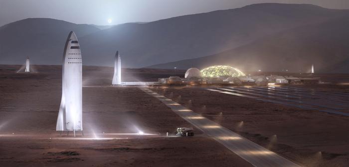 SpaceX озвучили новые детали марсианской программы. Spacex, BFR, Big Falcon Rocket, Falcon 9, Космос, Марс, Илон Маск, Длиннопост