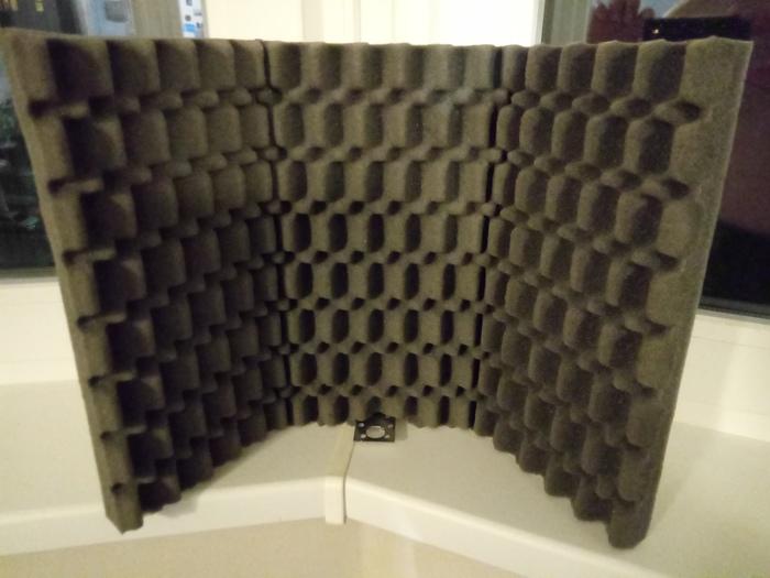 Акустический экран для микрофона своими руками Акустика, Экран, Звукоизоляция, Шумоподавление, Звук, Звукопоглощающая панель, Акустический экран, Своими руками, Длиннопост