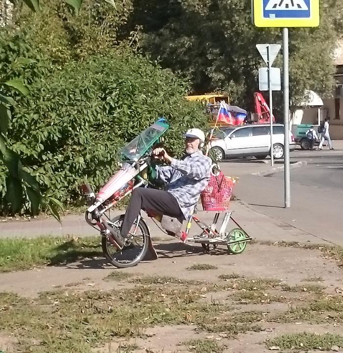 Главное сердцем не стареть Дед, Велосипед