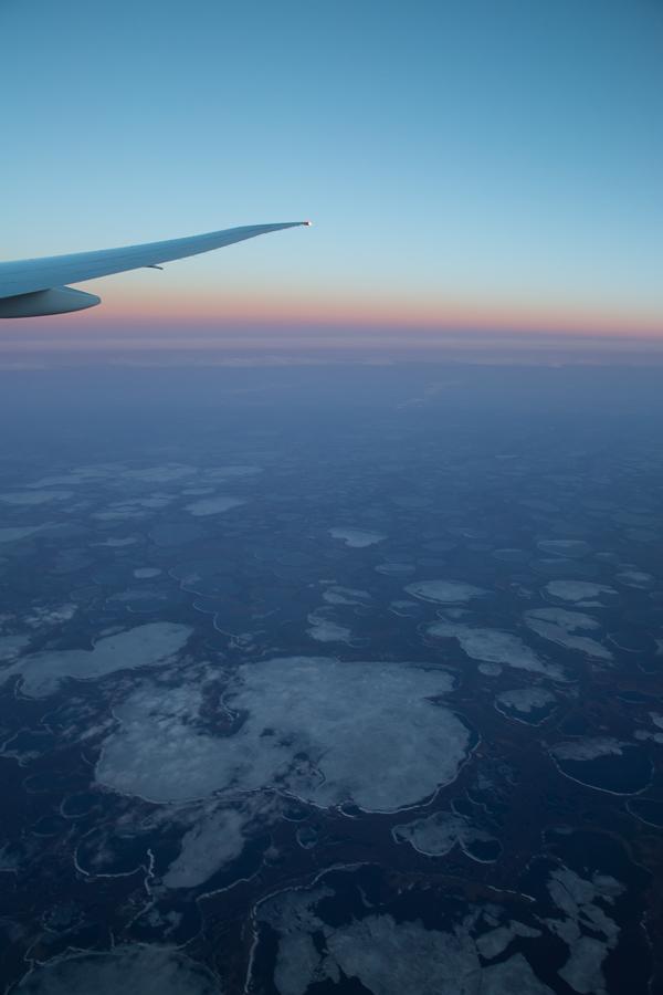 Сибирь с высоты 10000 метров Сибирь, Высота, Вид из самолёта