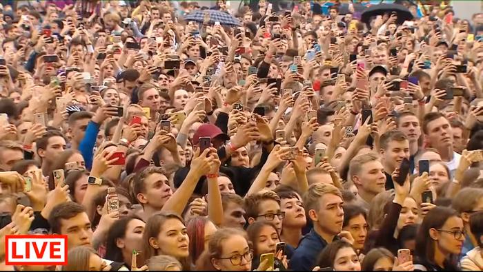 Интересный концерт Live, Концерт, Мобильные телефоны