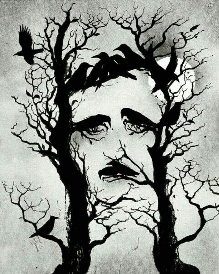 Классная обложка Эдгар Алан по, Ворон, Обложка