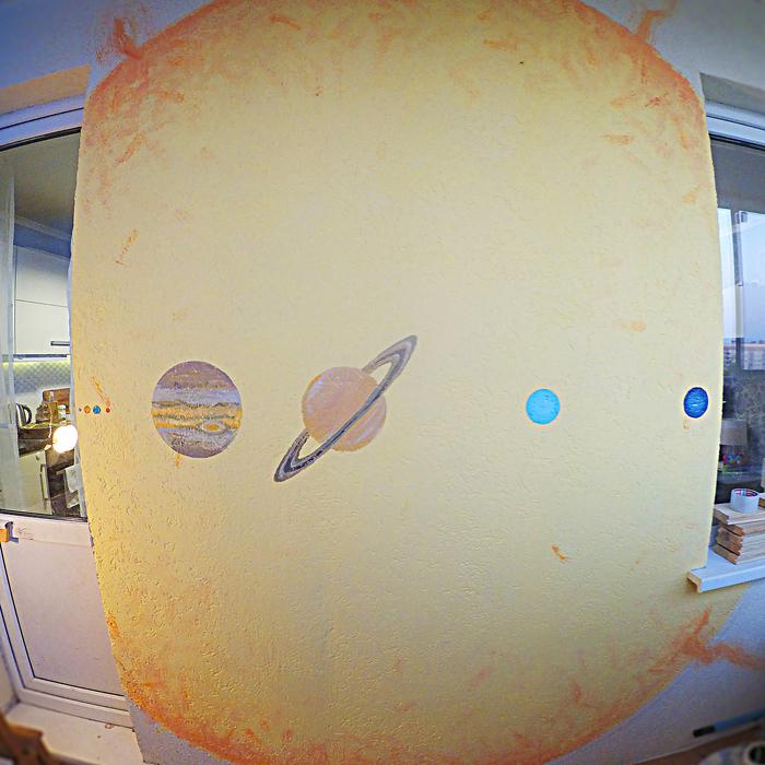 Балконный арт Космос, Масштаб, Планета, Солнце, Астрономия, Балкон