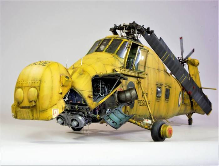 """Westland """"Wessex"""" на ТО Стендовый моделизм, Вертолёт, Спасатель, На то, Фотография, Длиннопост, Ian Barraclough"""