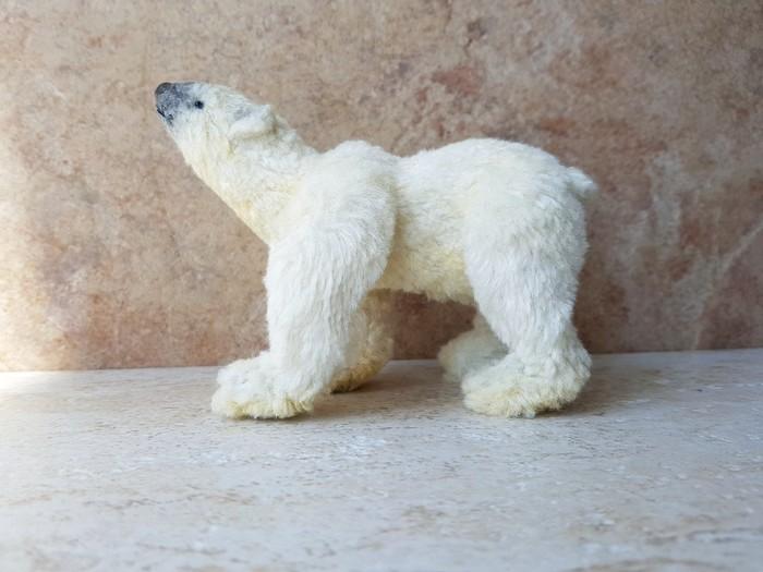 Белый медведь Игрушка ручной работы, Белый медведь, Медведь, Ручная работа, Handmade, Хищник, Дикая природа, Авторская игрушка, Длиннопост