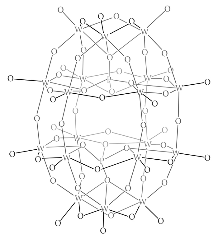 Химический принт вольфрамового комплекса Химия, Шаблон, Вектор, Молекула, Принт, Дизайн, Гифка, Длиннопост, Вольфрам