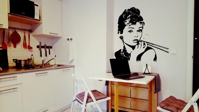 Отрисовка с помощью проектора Проектор, Рисунок, Поп-Арт, Одри Хепберн, Мэрилин Монро