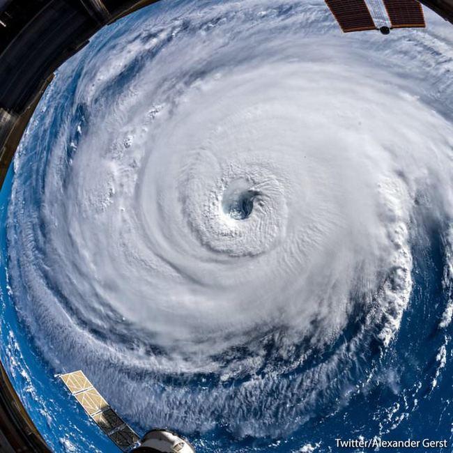 Ураган Флоренс с МКС