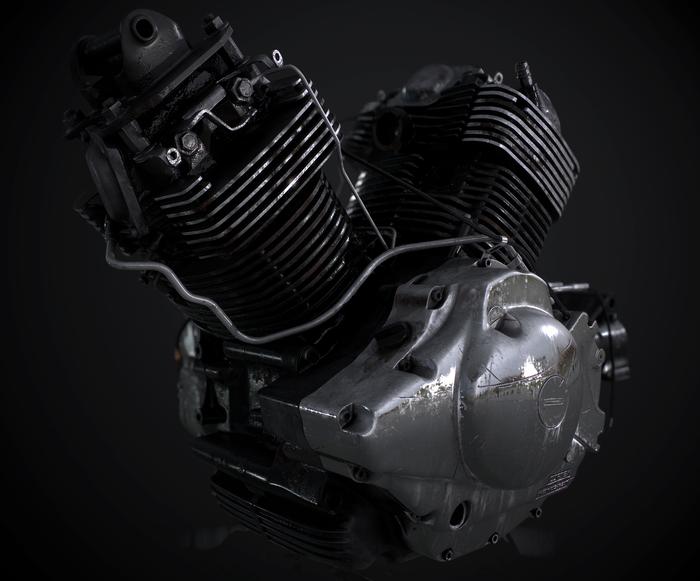 Old rusty Yamaha XVS 1100 Drag Star engine 3ds Max, Substance Painter, Yamaha, XVS, Drag Star, Движок, Мотоциклы, Двигатель, Длиннопост