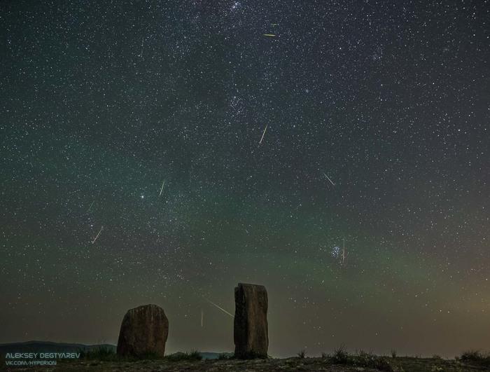 Охота за персеидами 2018 Персеиды, Метеор, Звезда, Звездное небо, Метеоритный дождь, Плеяды, Астрофото, Астрономия