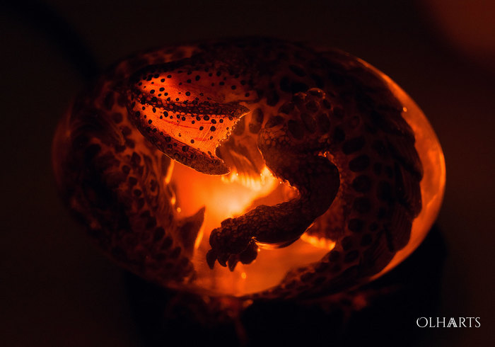 Яйцо лавового дракона (мини-ночник) OlhaARTS, Полимерная глина, Дракон, Мать драконов, Ночник, Рукоделие с процессом, Ручная работа, Я сделяль, Длиннопост