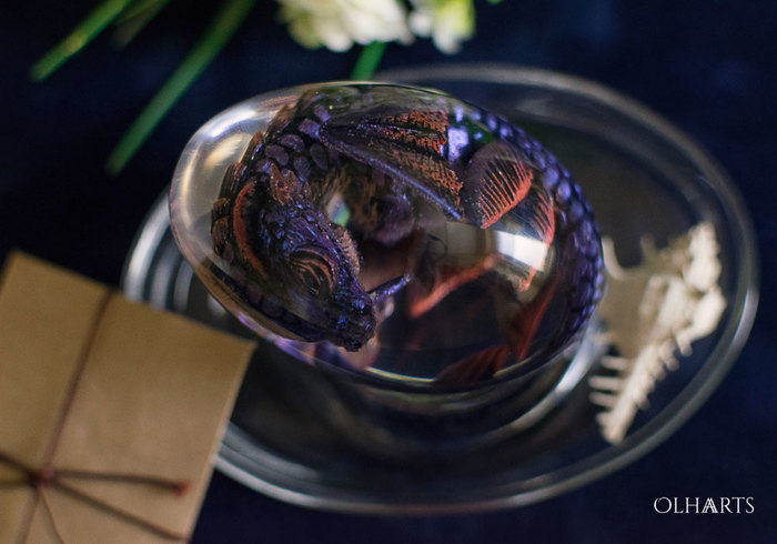 Водный дракон-подозревака OlhaARTS, Полимерная глина, Эпоксидная смола, Дракон, Дракон ручной работы, Ручная работа, Рукоделие с процессом, Длиннопост