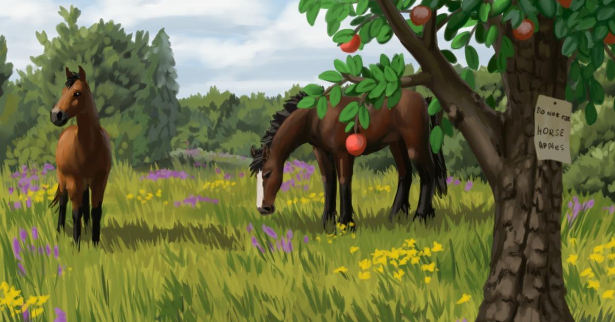 Картинки кони пасутся лани гуляют