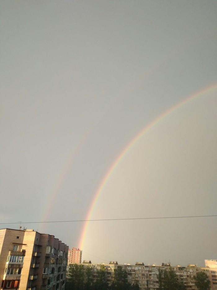 Двойная радуга Санкт-Петербург, Дождь, Двойная радуга