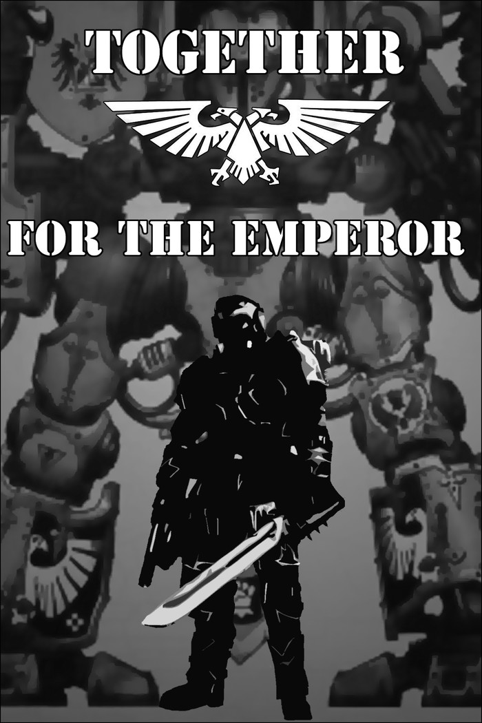 Вместе - за Императора! Wh art, Warhammer 40k, Имперская гвардия, Имперский Рыцарь