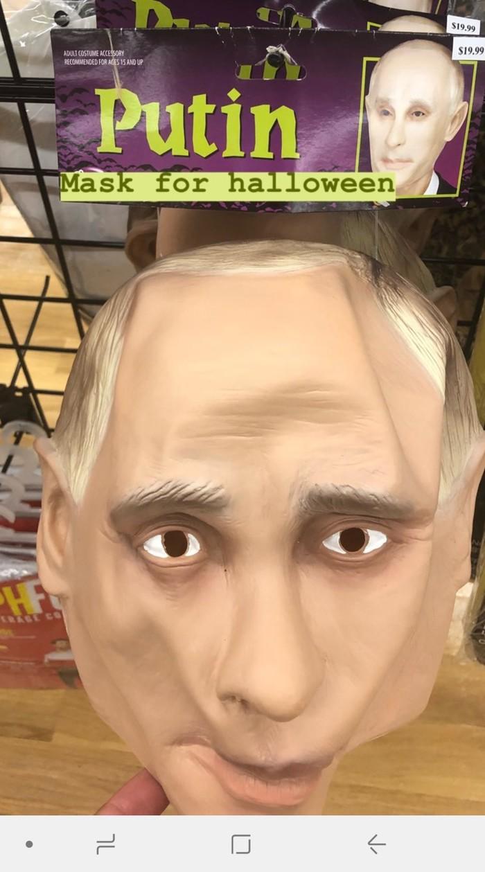 А маски вампира есть? США, Путин, Хэллоуин