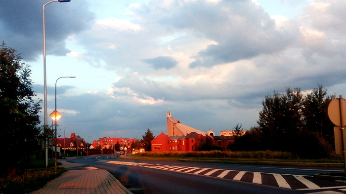 Красивый закат Фотография, Польша, Путешествия, Поездка, Закат