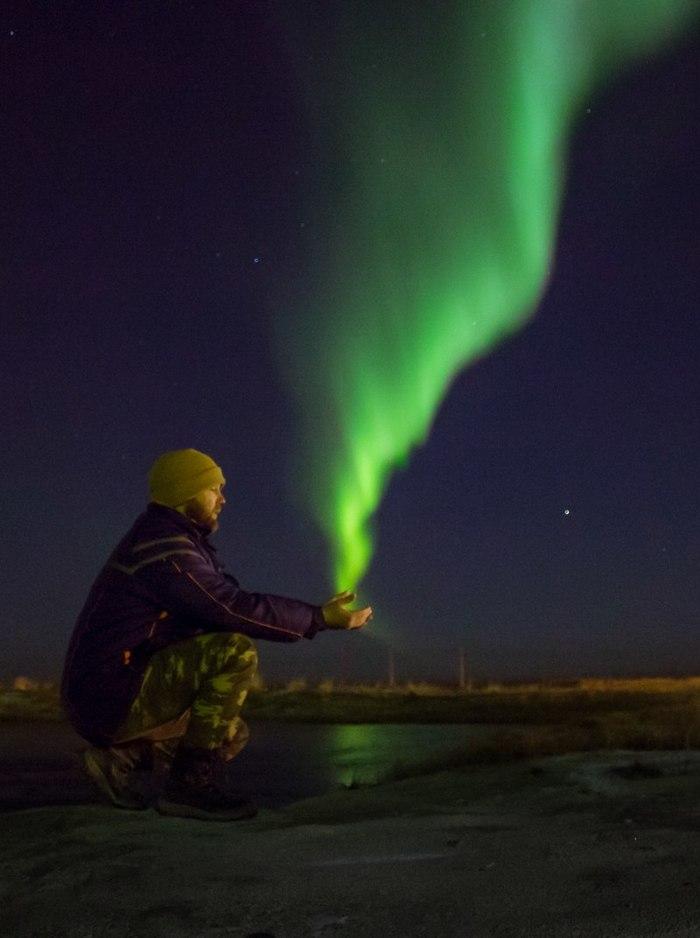 Как я северное сияние поймал Canon 650d, Северное сияние, Сабетта