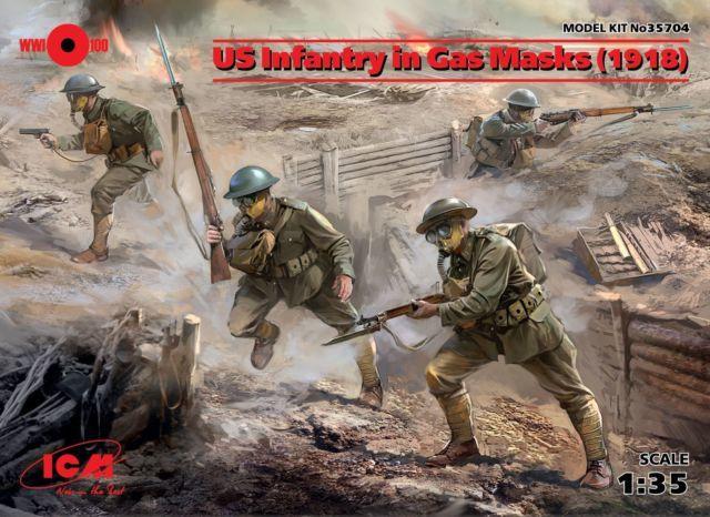 Фигурка американского пехотинца первой мировой в противогазе. Моделизм, Фигурка, Первая мировая война, Пехота, Длиннопост
