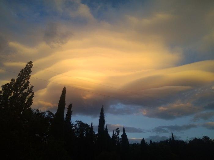 Небо над Ялтой Небо, Облака, Красота, Природа, Длиннопост