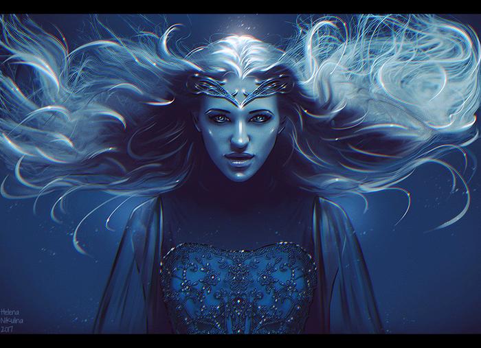 Galadriel - The Dark Lady. Арт, Елена Никулина, Галадриэль, Властелин колец, Толкин, Эльфийка, Фэнтези