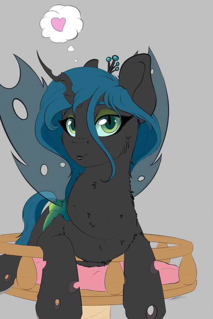 Её темнейшее пушистейство My little pony, Queen Chrysalis, Ponyart
