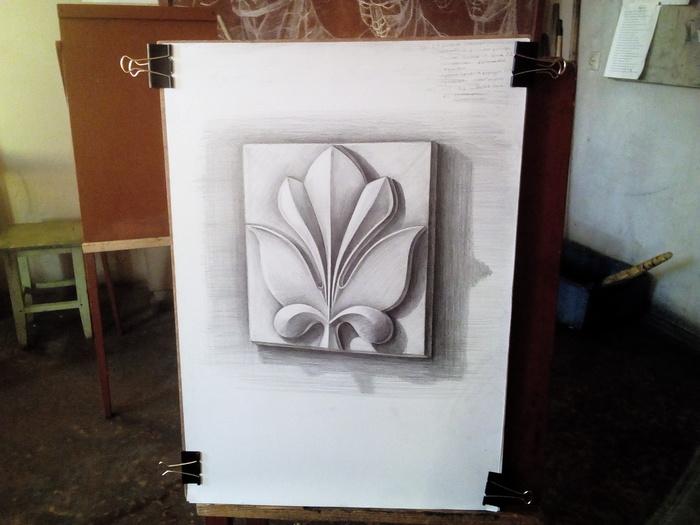 Академический рисунок. Рисунок, Академический рисунок, Маша Кроен, КУХОМ, Орнамент, Рисунок карандашом, Карандаш