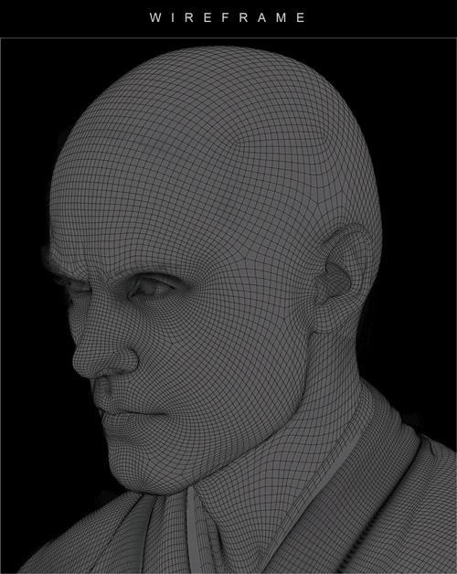 Детализация и реалистичность современного трехмерного искусства Арт, 3D моделирование, Бегущий по лезвию 2049, Джаред Лето, Реализм, Гифка, Длиннопост