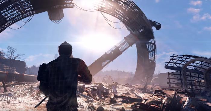 """В трейлере Fallout 76 возможно был показан упавший спутник """"Б.О.М.Б."""" Пасхалка, Fallout, Игры, Fallout 76, Компьютерные игры"""