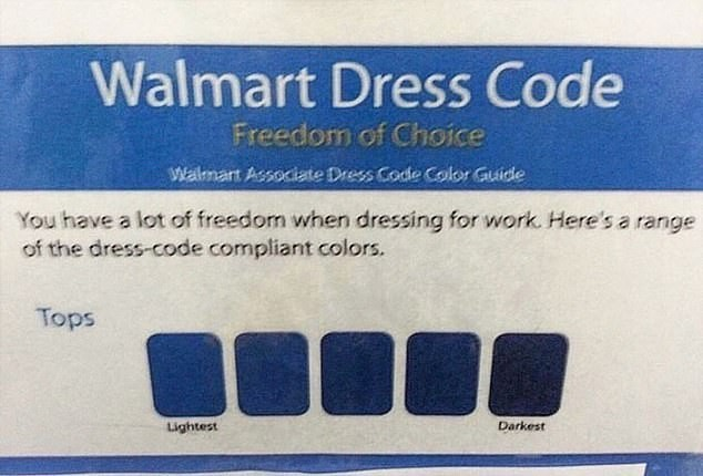 """Когда в вакансии написано """"Свободный дресс-код"""" Работа, Наемное рабство, Walmart, Дресс-Код, Синий"""