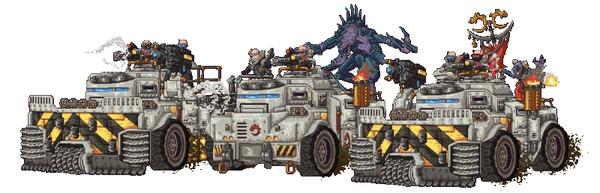 Культ генокрадов Steeljoe, Tyranids, Генокрады, Genestealers, Warhammer 40k, Pixel Art, Warhammer, Wh Art, Гифка