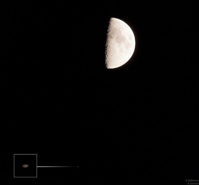 Сближение Луны и Сатурна 17 сентября 2018 Астрофото, Астрономия, Луна, Сатурн, Фотография, Космос