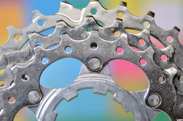 Кассета Shimano 105 Велосипед, Shimano, Шестеренки, Велоспорт, Макрофотосъёмка, Макро, Техника, Длиннопост