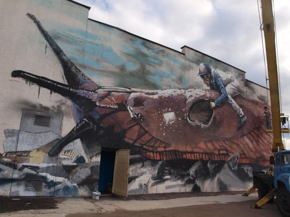 Муралы моего города Стрит-Арт, Мурал, Искусство, Сумы, Украина, Граффити, Кот, Улитка, Длиннопост