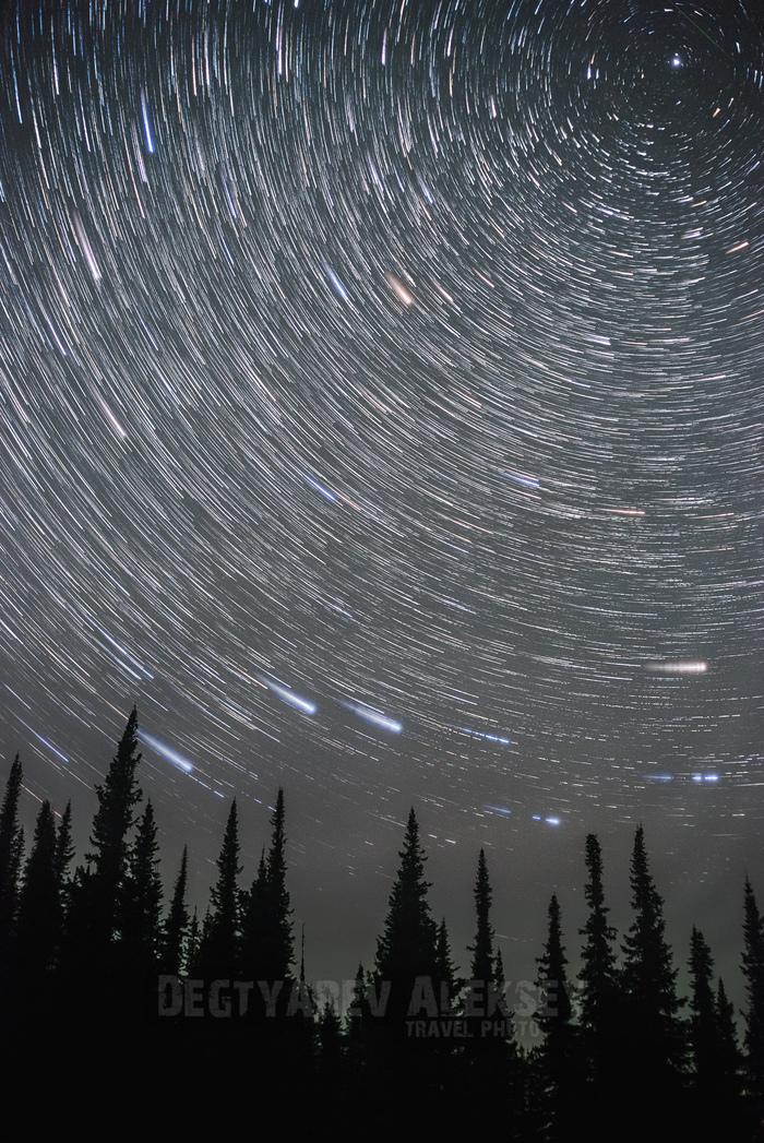 И все таки она вертится! Астрофото, Звездные треки, Звезда, Небо, Ночь, Астрономия, Полярная звезда