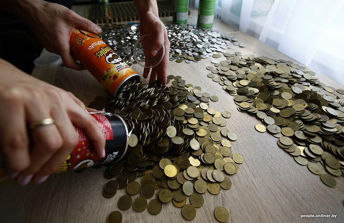 7000$ по-белорусски Деньги, Копилка, Монета, Беларусь, Заначка, Длиннопост