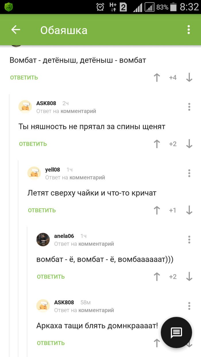 Военизированный вомбат Ответы на коменты, Комментарии