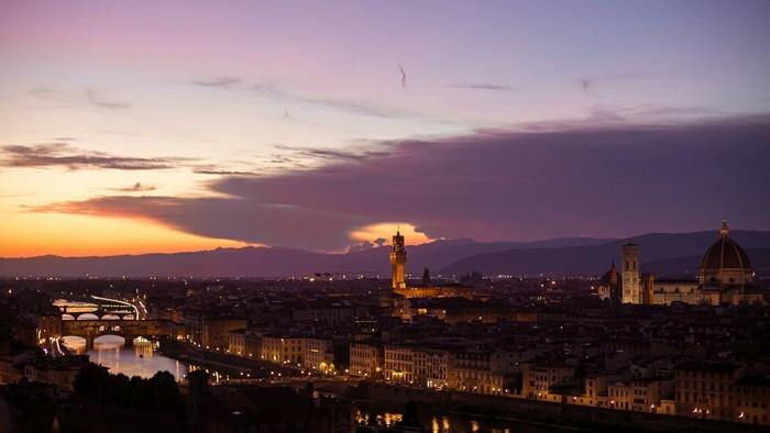 Закат во Флоренции, Италия Фотография, Путешествия, Canon, Флоренция, Италия