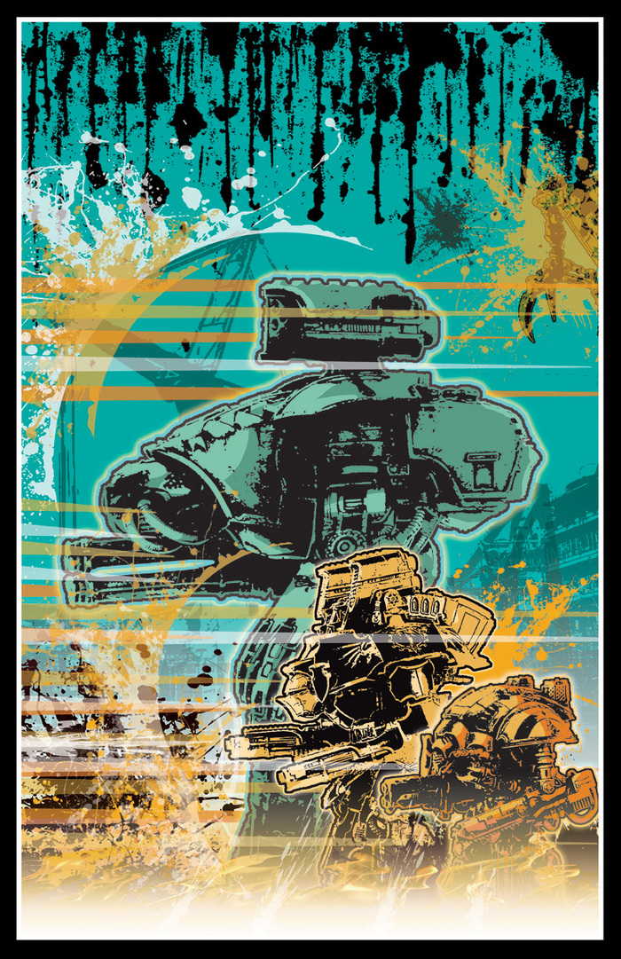 Постеры Warhammer 40k, Wh art, Титан, Длиннопост
