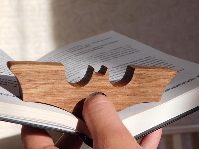 Держатели книжных страниц Своими руками, Выпиливание, Держатель страниц, Бэтмен, Книги, Рукоделие без процесса, Длиннопост, Работа с деревом
