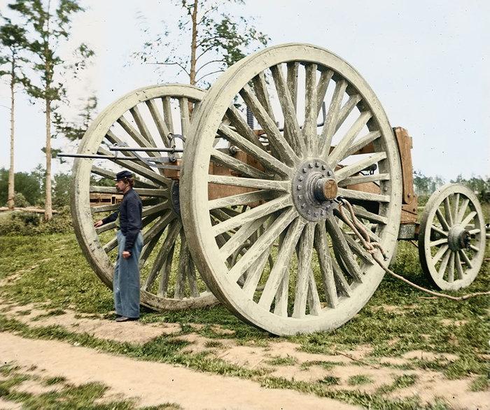 Лафет гаубицы. Гражданской войны в США, Вирджиния, 1865 год.