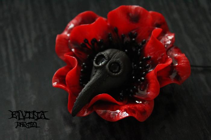 Чума в цветах Полимерная глина, Крипота, Чума, Цветы, Кровь