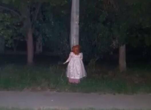 Куклы на улицах Армавира Крипота, Кукла, Армавир, Плохая шутка, Длиннопост