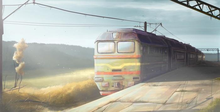 Последний поезд Фантастика, Поезд, Рай, Ад, Философия, Самиздат, Рассказ, История, Длиннопост